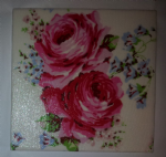 Ceramic Wall Tiles Made With White Classic Rose by Cath Kidston